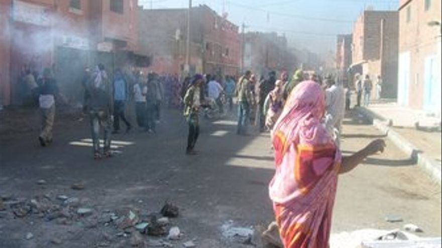 Disturbios en El Aaiún. (EUROPA PRESS)