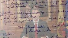 Felipe VI durante el discurso del 3 de octubre / Notas de los días de la DUI