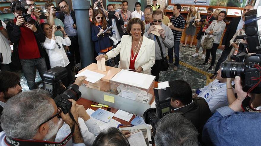 Barberá gana en Valencia pero lejos de la mayoría absoluta, al 15% escrutado