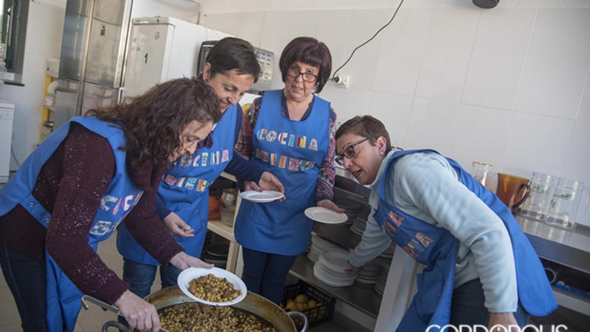 Voluntarias de la cocina del Rey Heredia, en una imagen de archivo