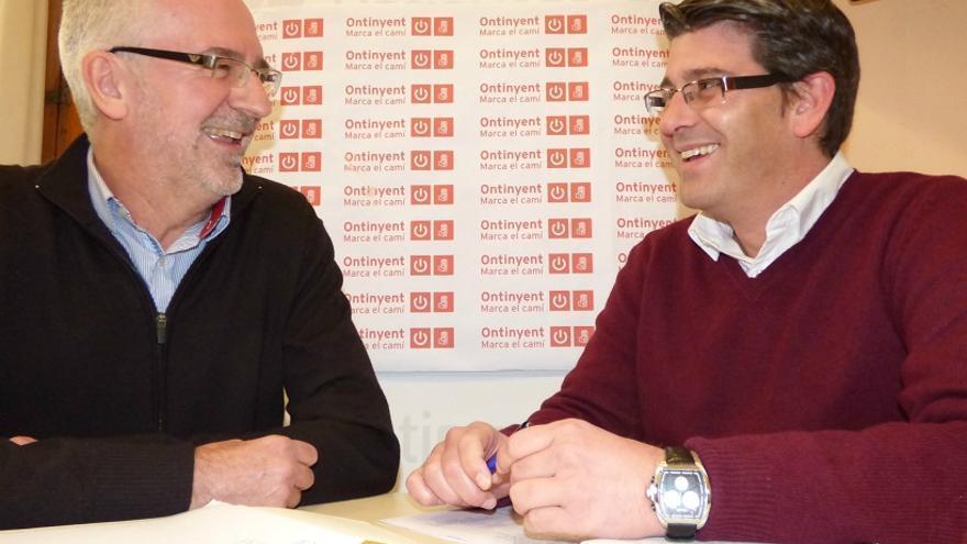 Xavier Simón, nou cogerent de Divalterra, i Jorge Rodríguez, president de la Diputació