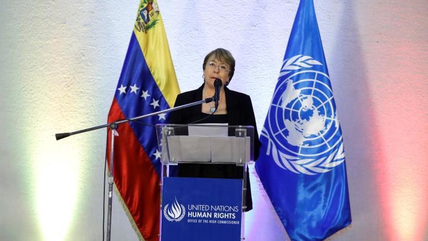 Bachelet pide liberar a los detenidos por ejercer derechos civiles en Venezuela