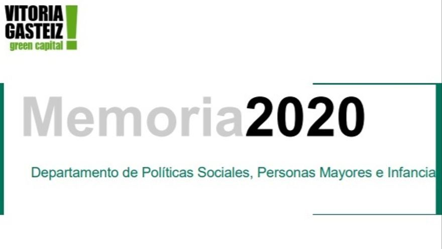 Memoria del área de Políticas Sociales del Ayuntamiento de Vitoria