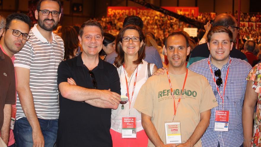 Emiliano García-Page, Pablo Bellido y Nacho Hernando en la clausura del Congreso del PSOE