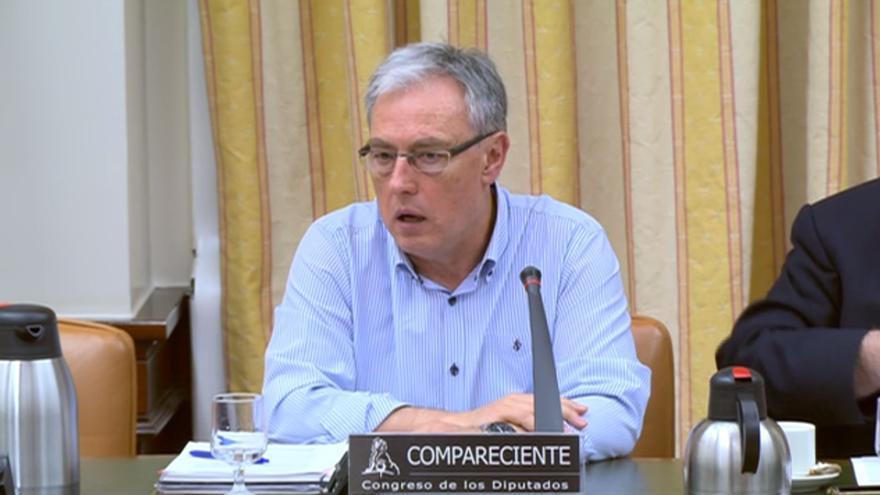 Nicolás Izquierdo, Jefe de Tráfico de Renfe, en su comparecencia en el Congreso