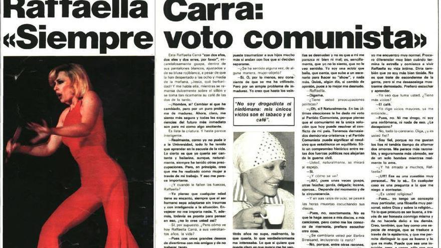 Entrevista a la artista en el número 55 de la revista 'Interview' en 1977
