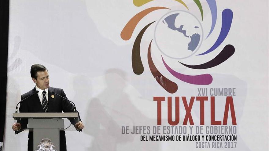 Peña Nieto agradece el apoyo mesoamericano en sus relaciones con Estados Unidos