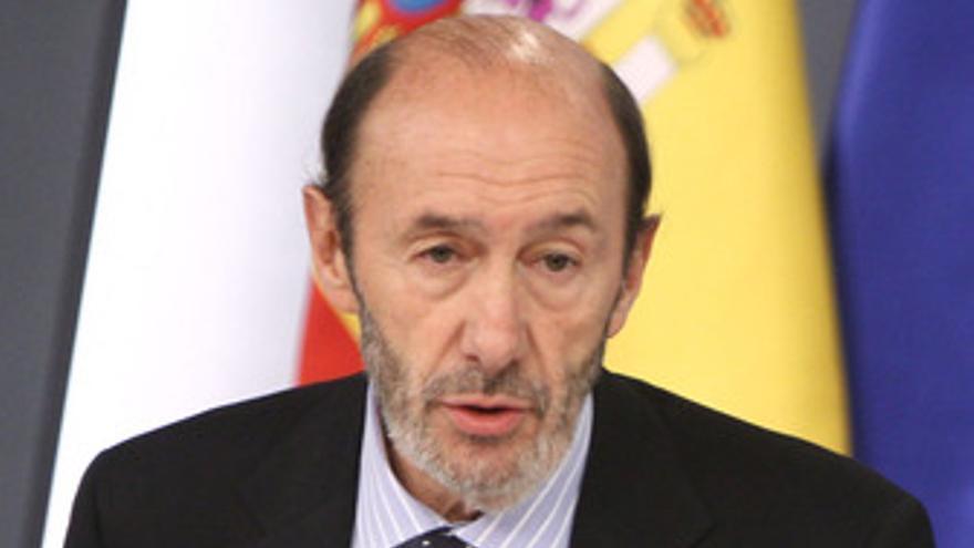 Primer plano de Alfredo Pérez Rubalcaba