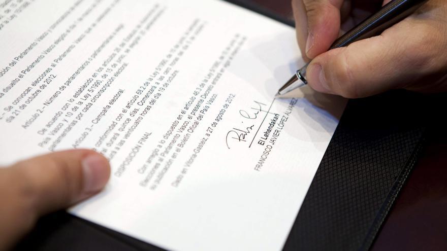 El Parlamento Vasco queda disuelto desde hoy y se convocan las elecciones