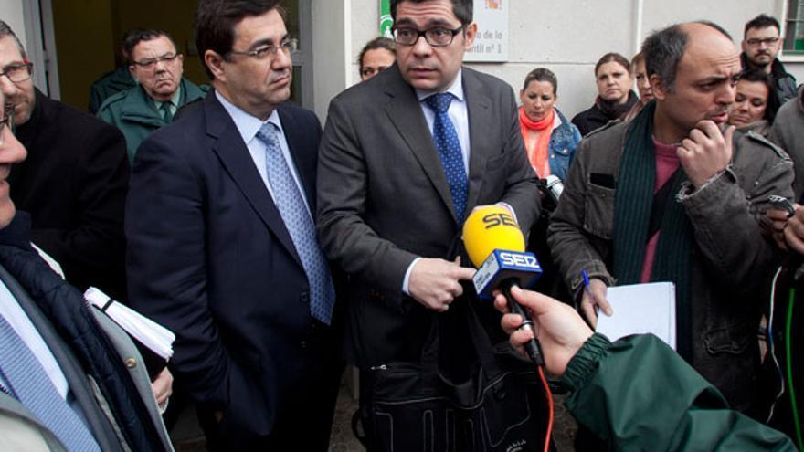 Los administradores concursales de Pérez Giménez en el juzgado   MADERO CUBERO