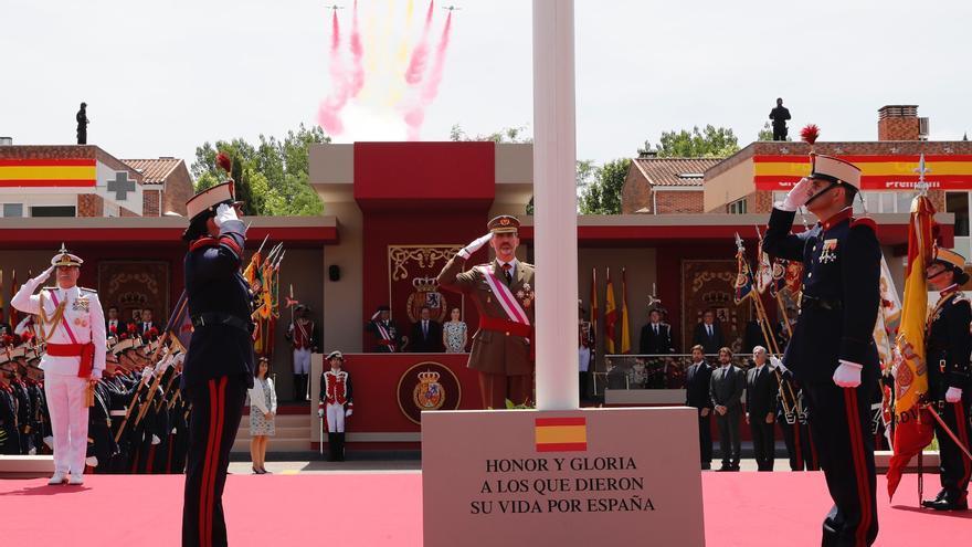 El rey Felipe VI, durante al Día de las Fuerzas Armadas de 2017 en Guadalajara.