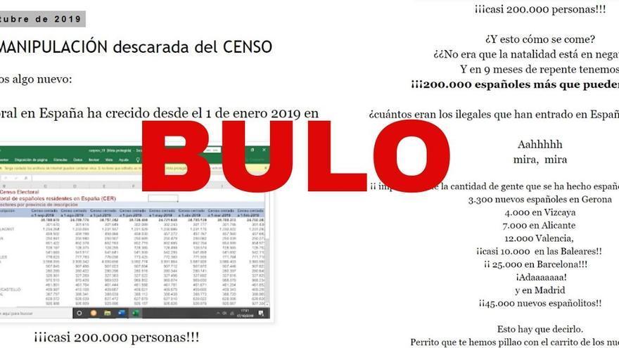 """No, no hay ni 200.000 ni 106.000 """"nuevos españolitos"""" para poder votar en las elecciones generales del próximo 10 de noviembre como se dice en un vídeo"""