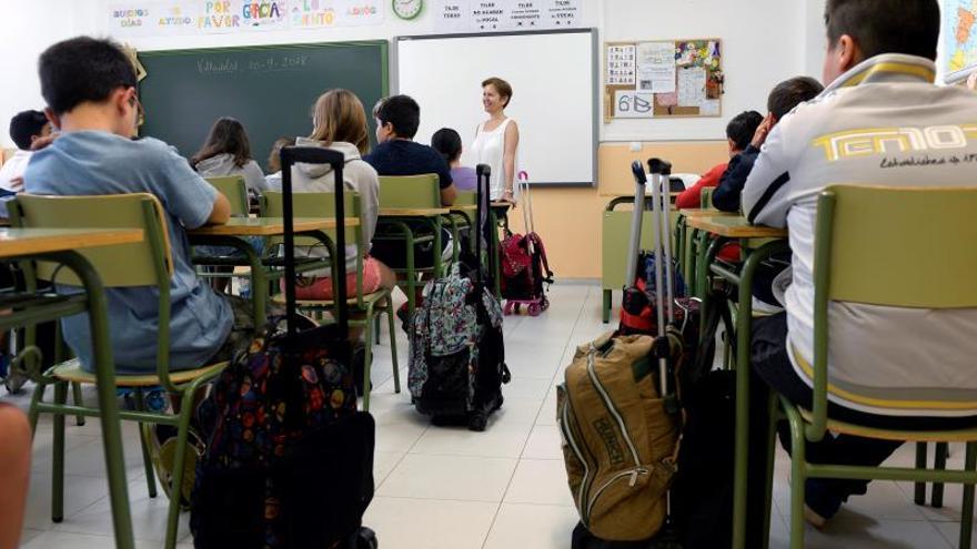 Una foto de recurso de un aula.