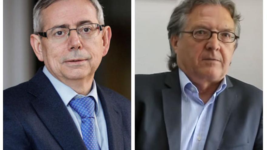 Antonio Ariño, Vicerrector de Cultura e Igualdad de la Universitat de València, y Joan Romero, catedrático de Geografía Humana