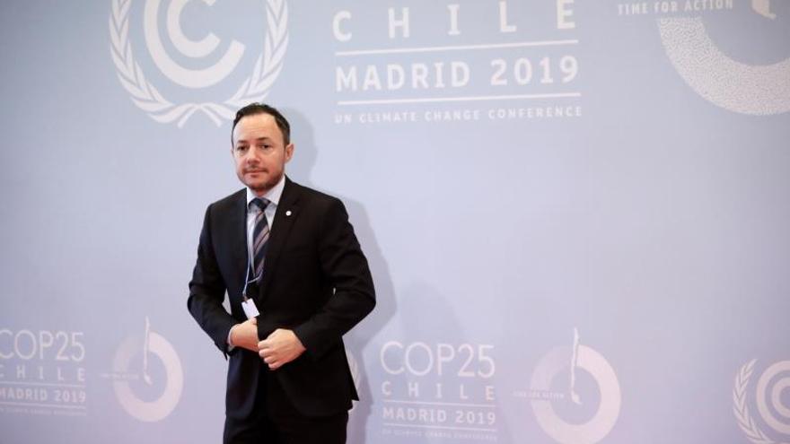 """El Jefe de Gobierno de Andorra, Xavier Espot, a su llegada a la ceremonia de apertura de la 25 Conferencia de las Partes del Convenio Marco de Naciones Unidas sobre Cambio Climático (COP) que arranca este lunes en Madrid bajo el lema """"Tiempo de actuar""""."""