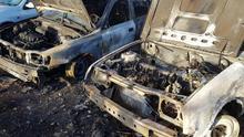 Arden dos coches durante la madrugada de este viernes en Los Llanos