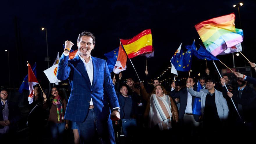 Albert Rivera, durante el acto de este jueves en Barcelona.