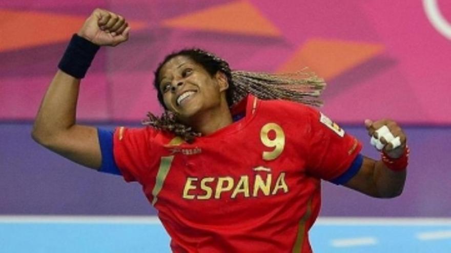 Marta Mangué en los Juegos de Londres 2012 (RFEBM).