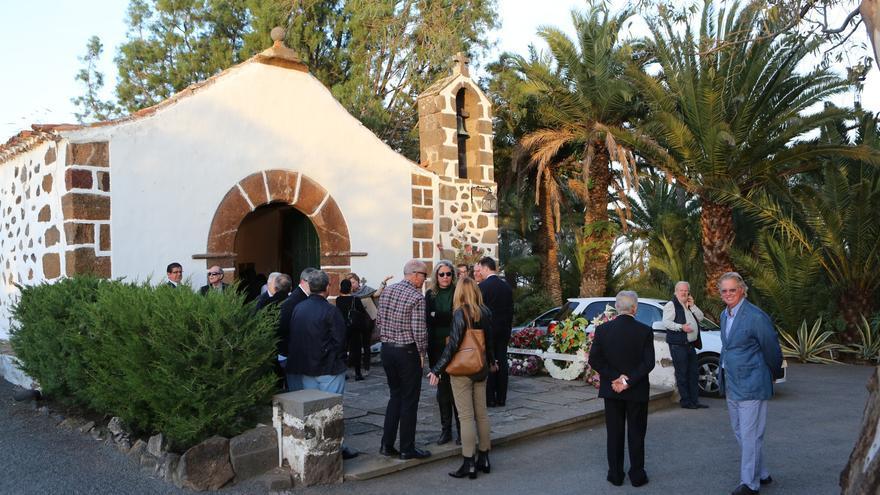 Despedida al historiador Antonio Bethencourt Massieu en la finca Salvago, en Tafira