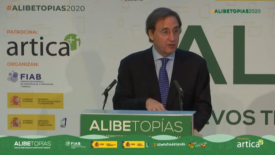 Tomás Pascual, presidente de FIAB, durante un acto.