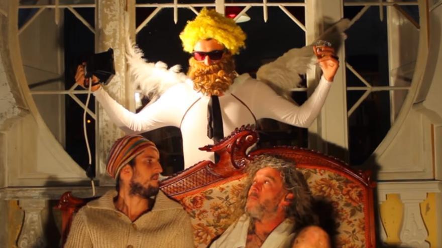En la imagen, una escena del vídeo navideño de Mareando.