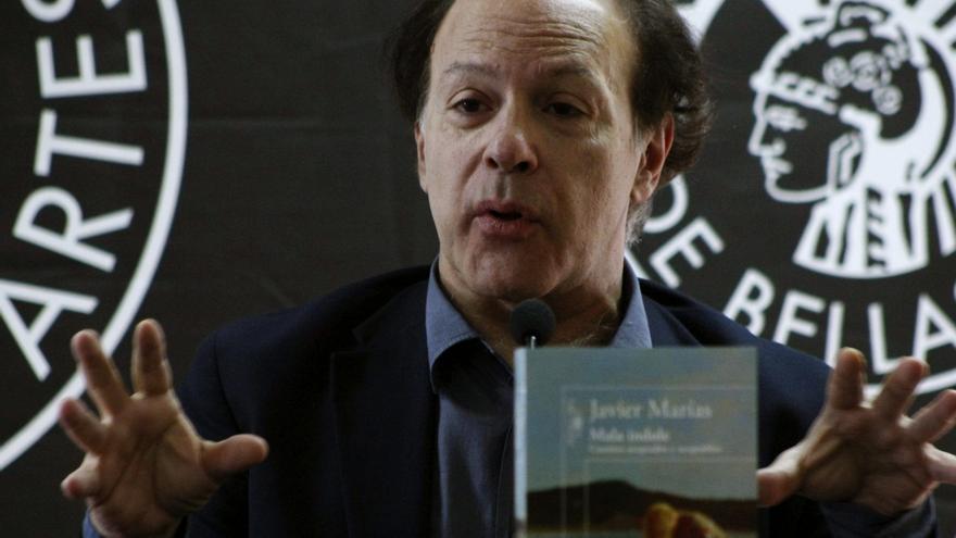 El escritor Javier Marías en la presentación de 'Mala índole'. Foto: Efe