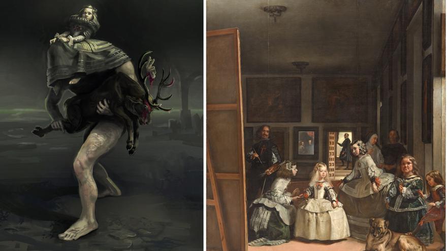 A la izquierda: el villano llamado Guardainfante. A la derecha: 'Las meninas' (1656), de Diego Velázquez