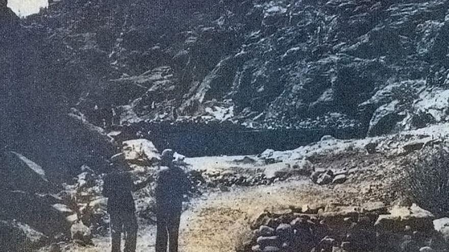 Visita a las obras de Chira Presa en 1944. (Cedida a Canarias Ahora).