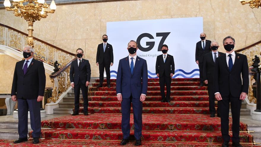 Los ministros de Exteriores del G7 abren su primera cita presencial en 2 años