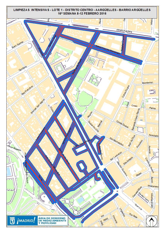 Área de limpieza intensiva del 8 al 12 de febrero | AYUNTAMIENTO DE MADRID