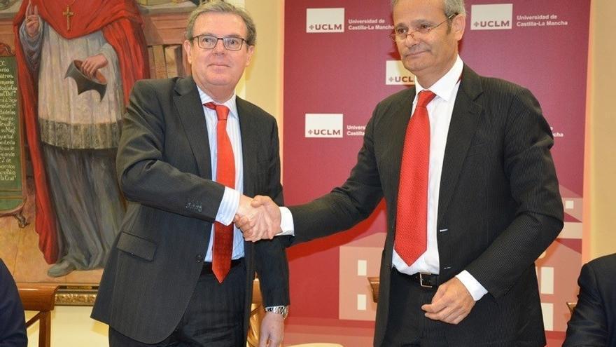 Miguel Ángel Collado (UCLM) y Francisco Javier Merino (Quantum)