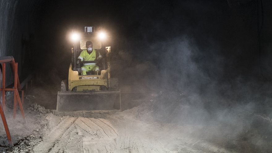 Trabajos de mejora de la seguridad del túnel de Julio Luengo