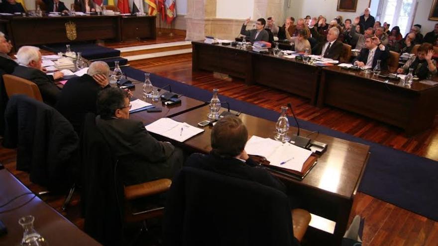 Pleno en la Diputación de Lugo en el pasado mandato