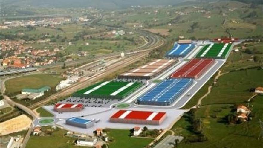 Foto aérea de una zona industrial de Cantabria