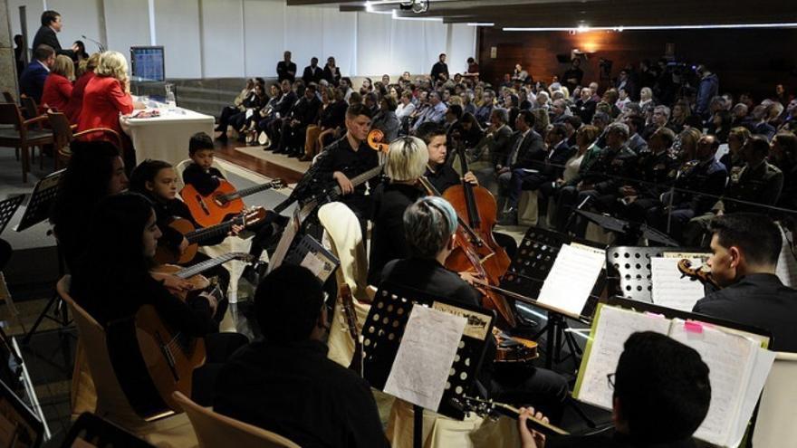 El evento ha contado con la actuación de la Joven Orquesta Ciudad de Mérida
