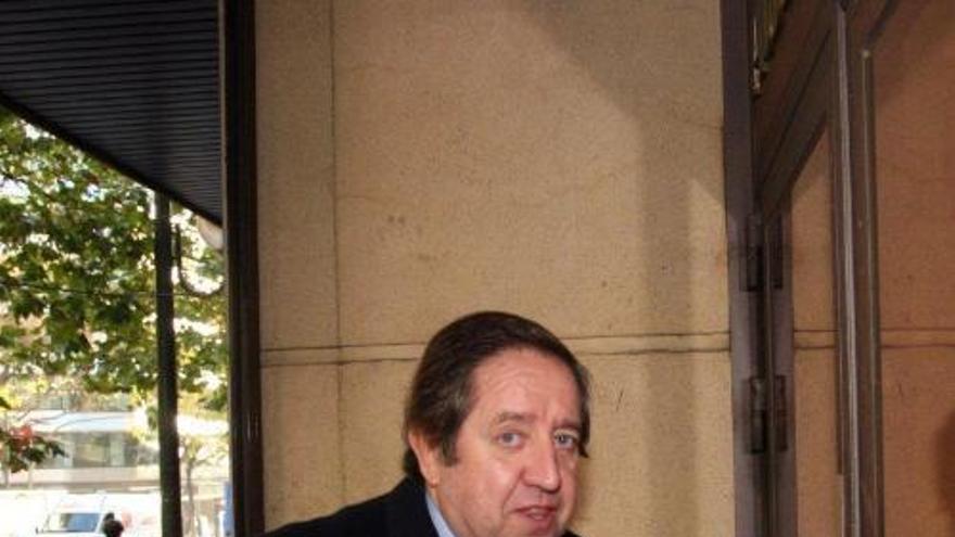 El financiero Javier de la Rosa, en una imagen de archivo, entrando a la Audiencia Nacional./EFE