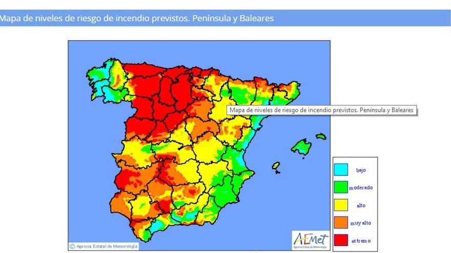 Mapa Incendios Galicia 2017.El Riesgo De Incendio Se Mantiene Muy Alto En La Zona De