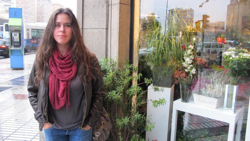 Ema Zelikovitch, estudiante de Filosofía, está pendiente de una beca para seguir con la carrera. (Foto: S. Hidalgo)