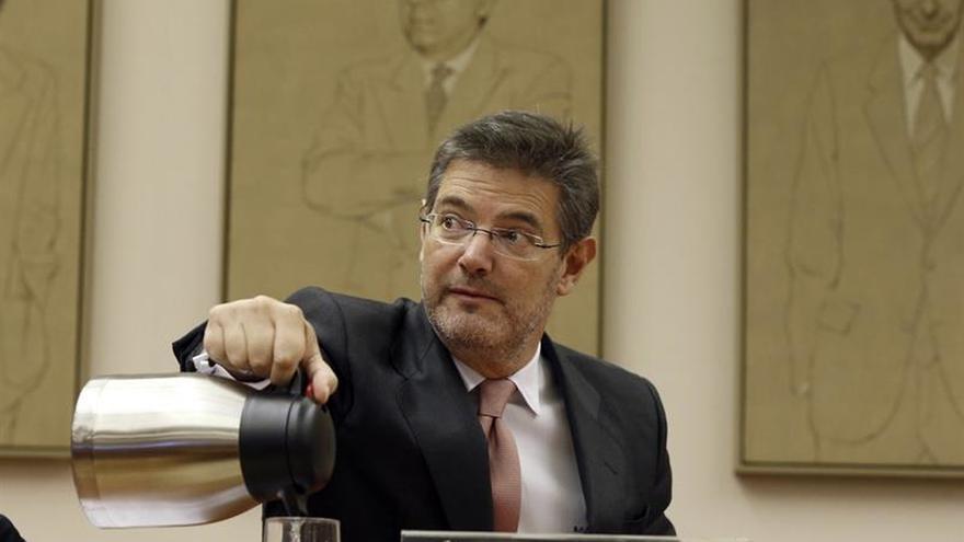 Catalá, durante una comparecencia en el Congreso de los Diputados.