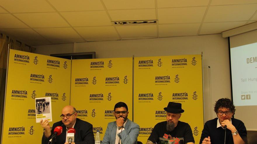"""Presentación del informe """"Peligrosamente desproporcionado"""", de Amnistía Internacional.   Foto: Amnistía Internacional"""