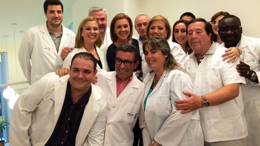 Una de esas inauguraciones, en el centro de salud de Villarta de San Juan (Ciudad Real). Foto oficial.
