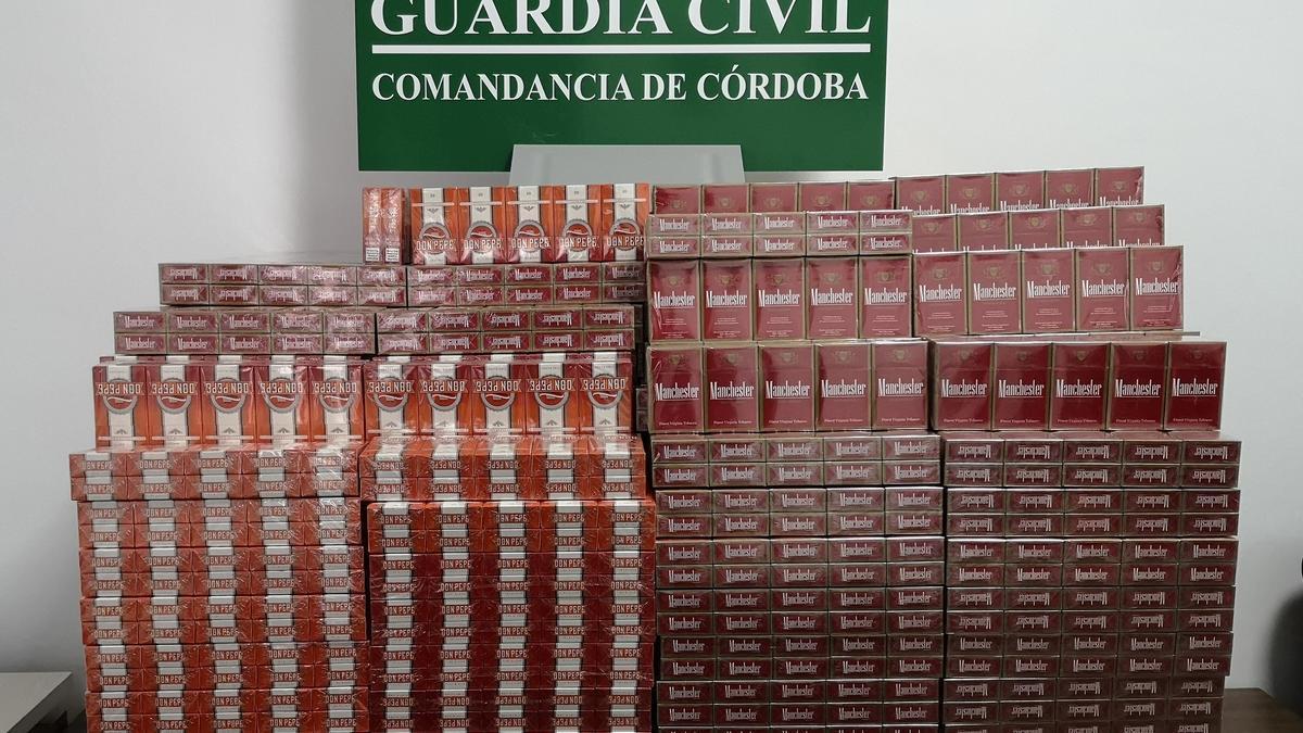 Tabaco de contrabando interceptado en La Rambla.