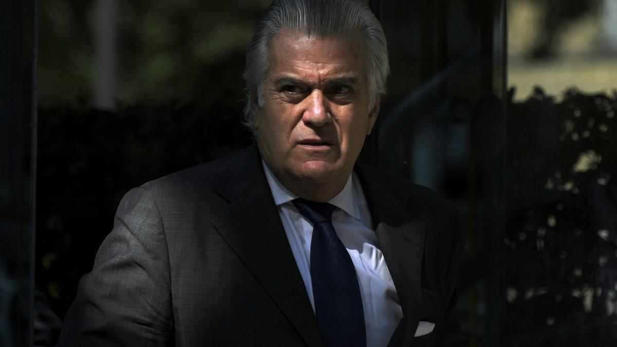 El extesorero del PP Luis Bárcenas, a su salida de la sede de la Audiencia Nacional, después de comparecer el pasado 16 julio de 2021.