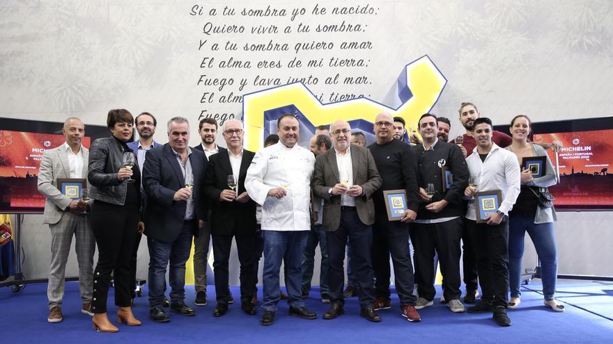 Todos los homenajeados tras haber sido incluidos en la Guía Michelin 2020