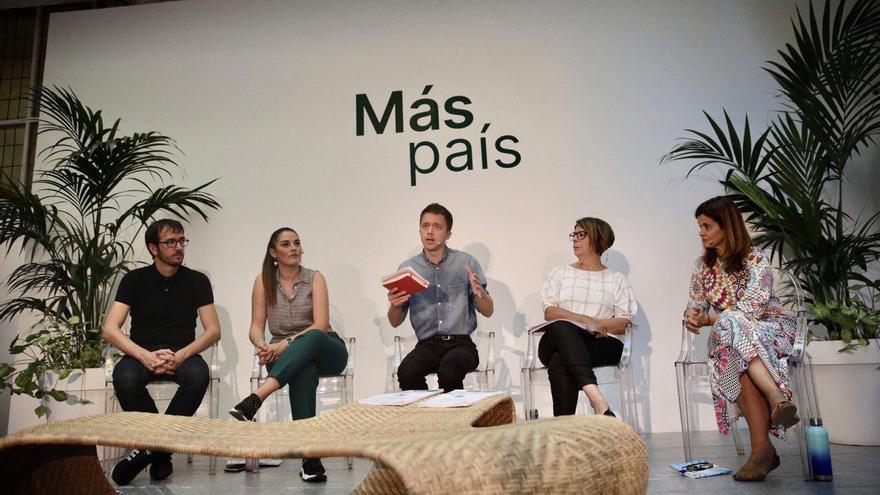 Íñigo Errejón, en la presentación del programa verde de Más País.