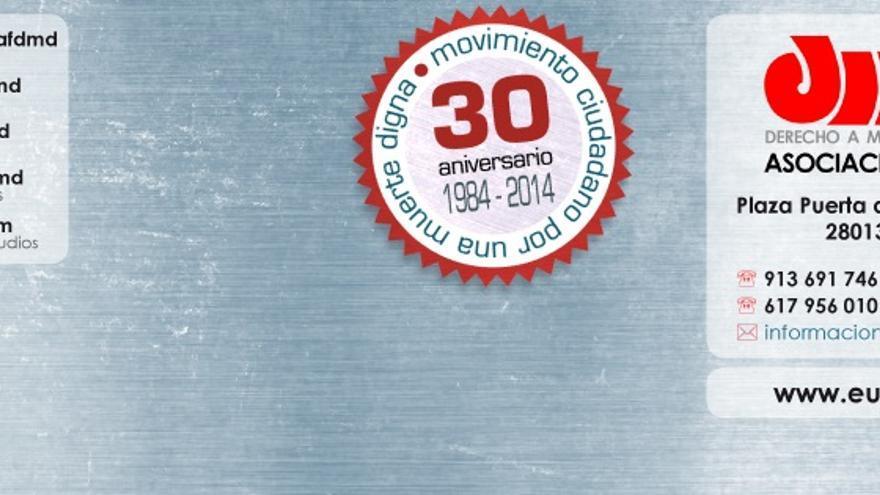 Cartel aniversario eutanasia.