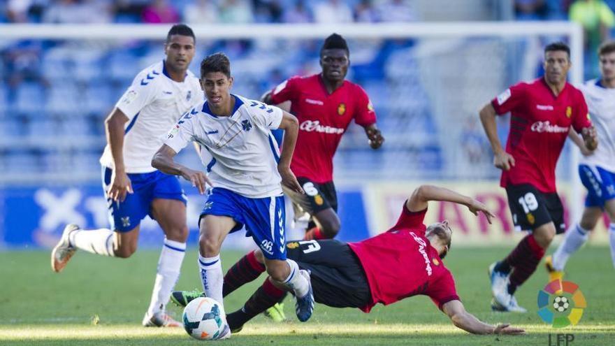 Ayoze Pérez, en el partido de ida ante el Mallorca. LFP