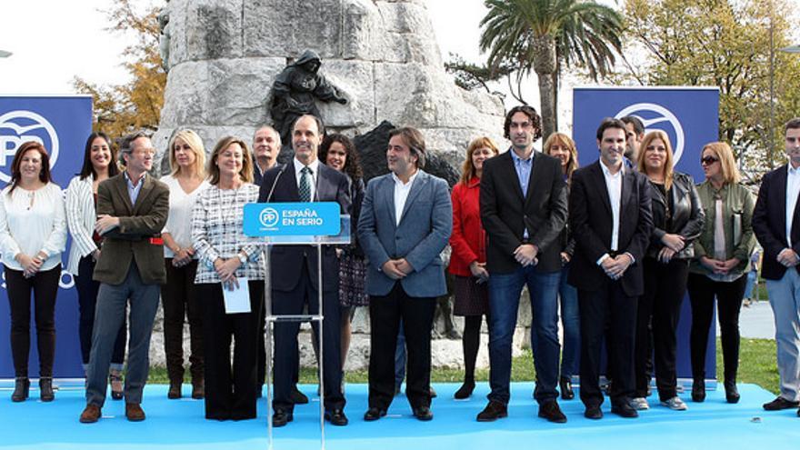 Presentación de la candidatura del popular en Cantabria.   PP