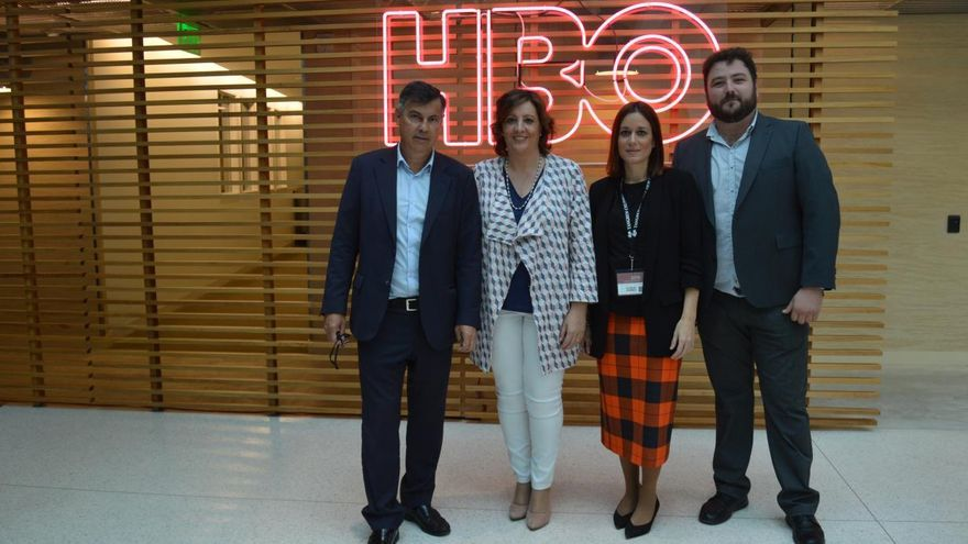 Visita del Gobierno de Castilla-La Manch a los estudios de HBO