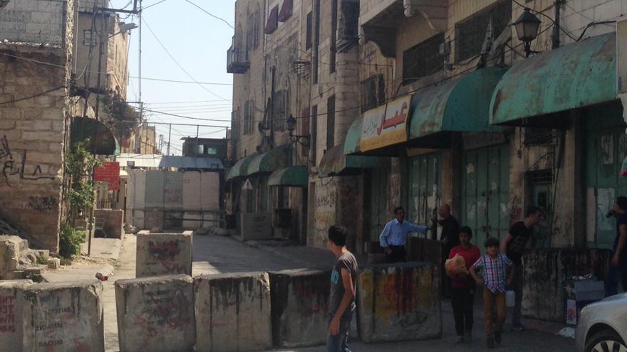 Checkpoint israelí en la ciudad ocupada de Hebrón, Cisjordania. / Olga Rodríguez